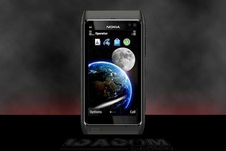 fond ecran nokia 360x640 espace terre lune