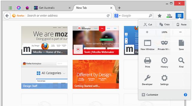 واجهة جديدة لمتصفح فايرفوكس في إصداره 28 firefox