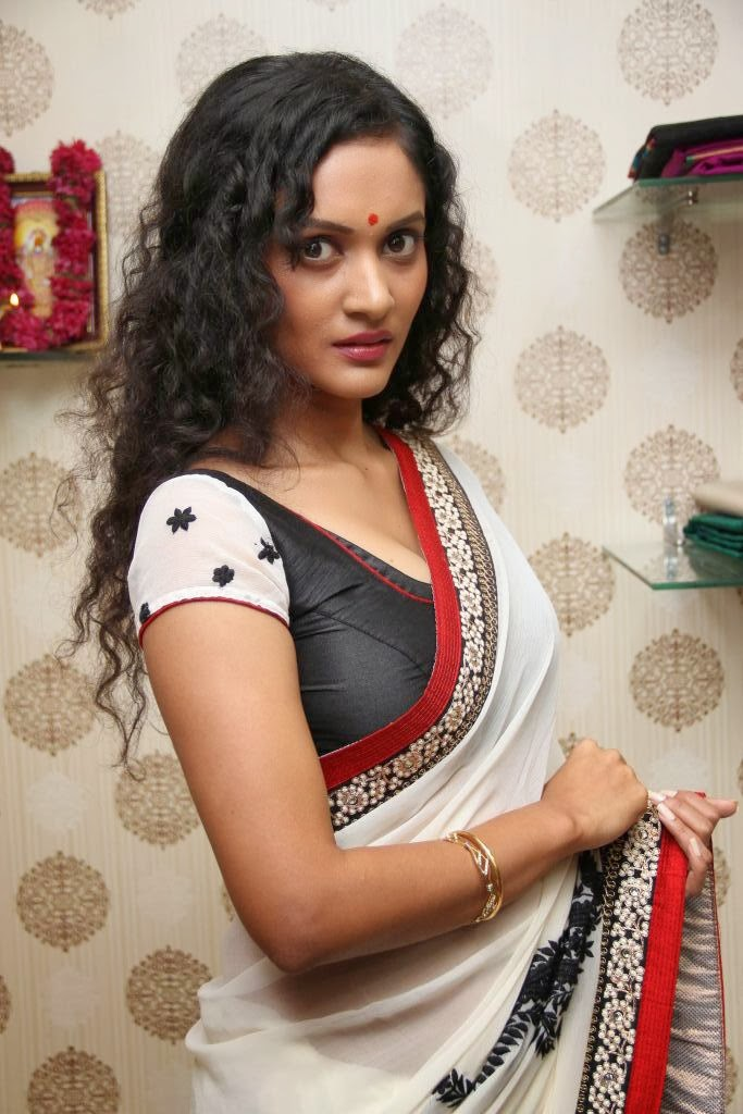 Hot house wife in saree