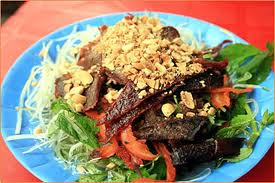 Hanoi dried beef salad