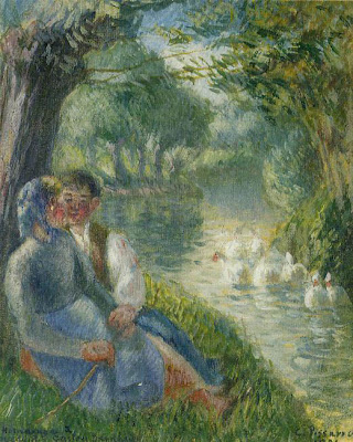 Deux amoureux au bord de l'eau