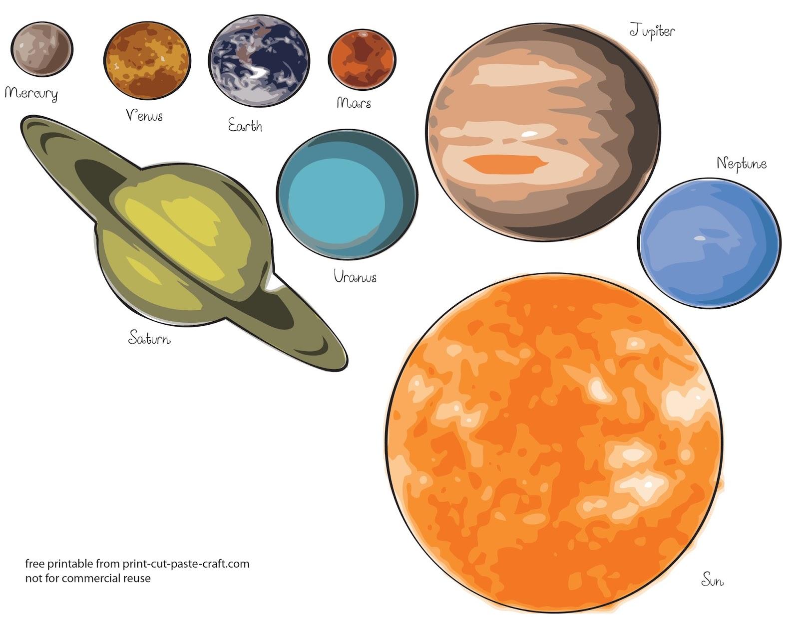 Dibujos para colorear: SISTEMA SOLAR