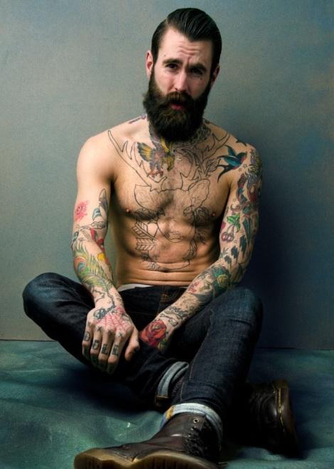 Ricki Hall Model Beard and Shirtless