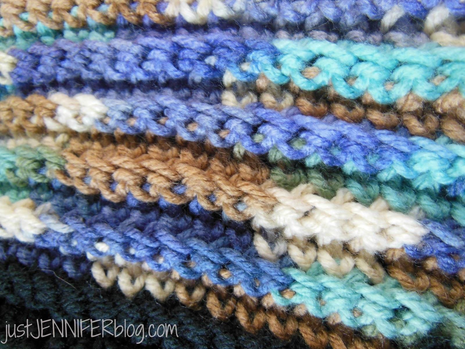 Dancing in the Rain: Ribbed Crochet Throw Blanket