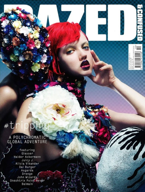 Lindsey Wixson Dazed & Confused October 2013 Covers