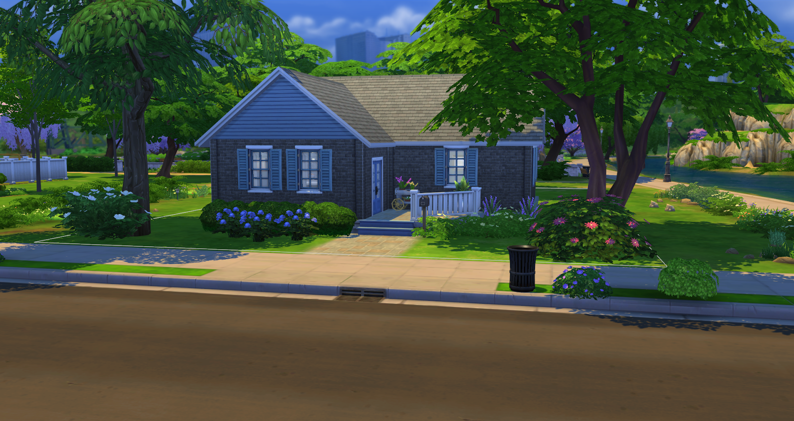 Sims 4 builds traditional brick starter sims 4 house for House 4