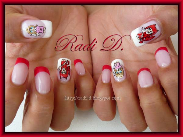 Devil nail designs image collections nail art and nail design ideas its all about nails angel vs devil devil nail art prinsesfo image collections prinsesfo Choice Image