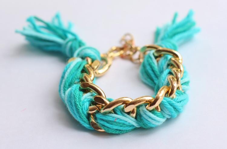 tutorial pulsera cadena