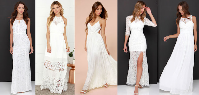 Maxi dresses are perfect for summer, and these white maxi dresses from LuLu's combine lovely lace accents, backless details, and neckline trims for stunning looks.