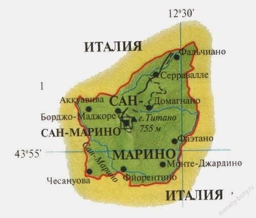 Где находится сан-марино карта