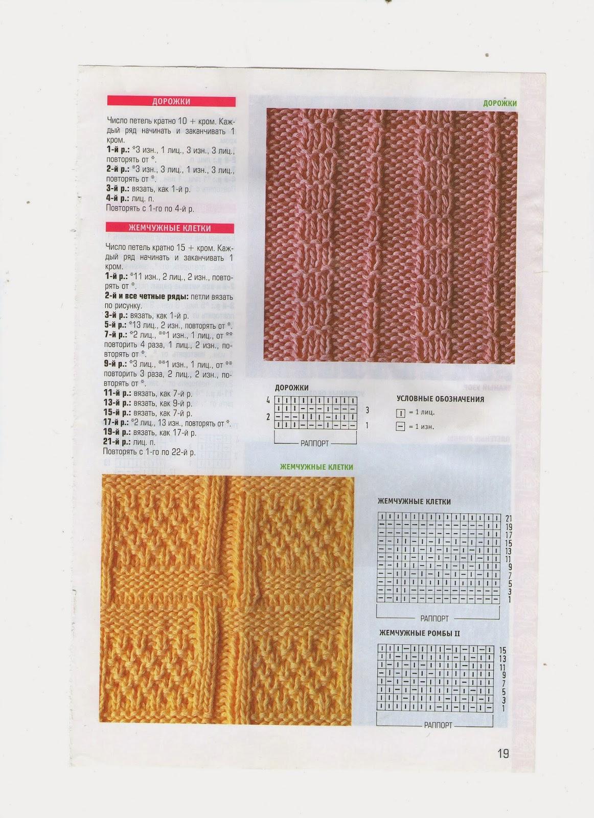 Узоры для вязания ромб с жемчужным узором