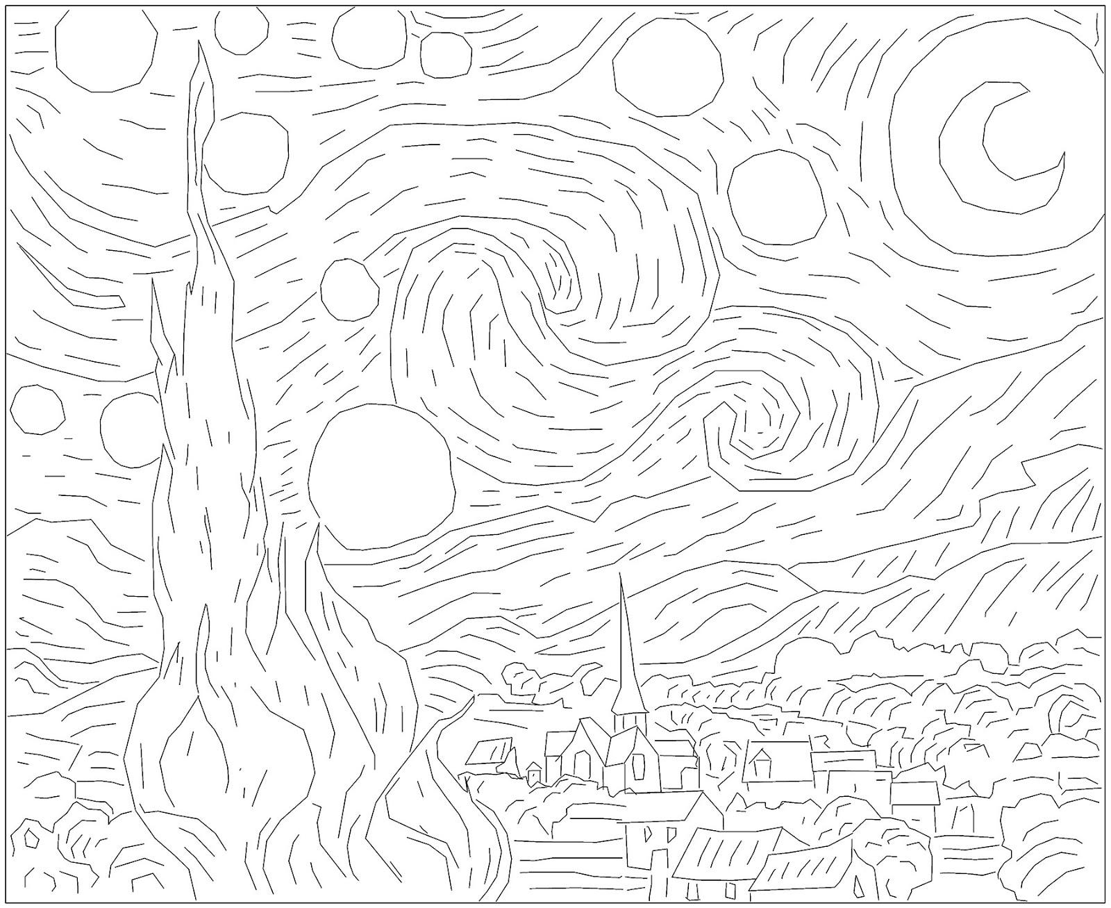 must, see, must see, Sterrennacht, de, sternennacht, von, vincent, van, gogh, art, minimal art, reproduction art, simple, basic, lines, views, cheers, moon, plants, houses, stars, trees, palm, andreas, warren, matti, artist, modern art, awm goes crazy, awm, crazy, goes, awm photography, photography, lines, simple art,