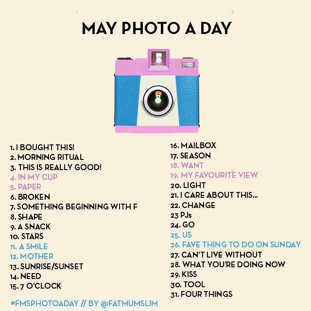 Photo a day May List