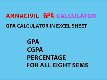 ANNA UNIVERSITY GPA CALCULATOR