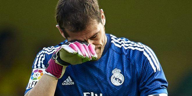 Casillas en el entrenamiento del Madrid