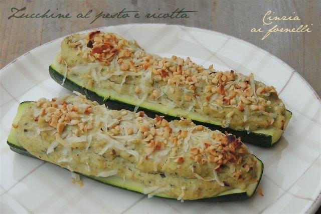cinzia ai fornelli: zucchine ripiene: pesto e ricotta - Cucinare Qualcosa Di Veloce
