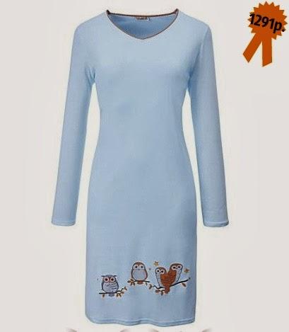 Ночная рубашка laritaM с совами от erwinmueller