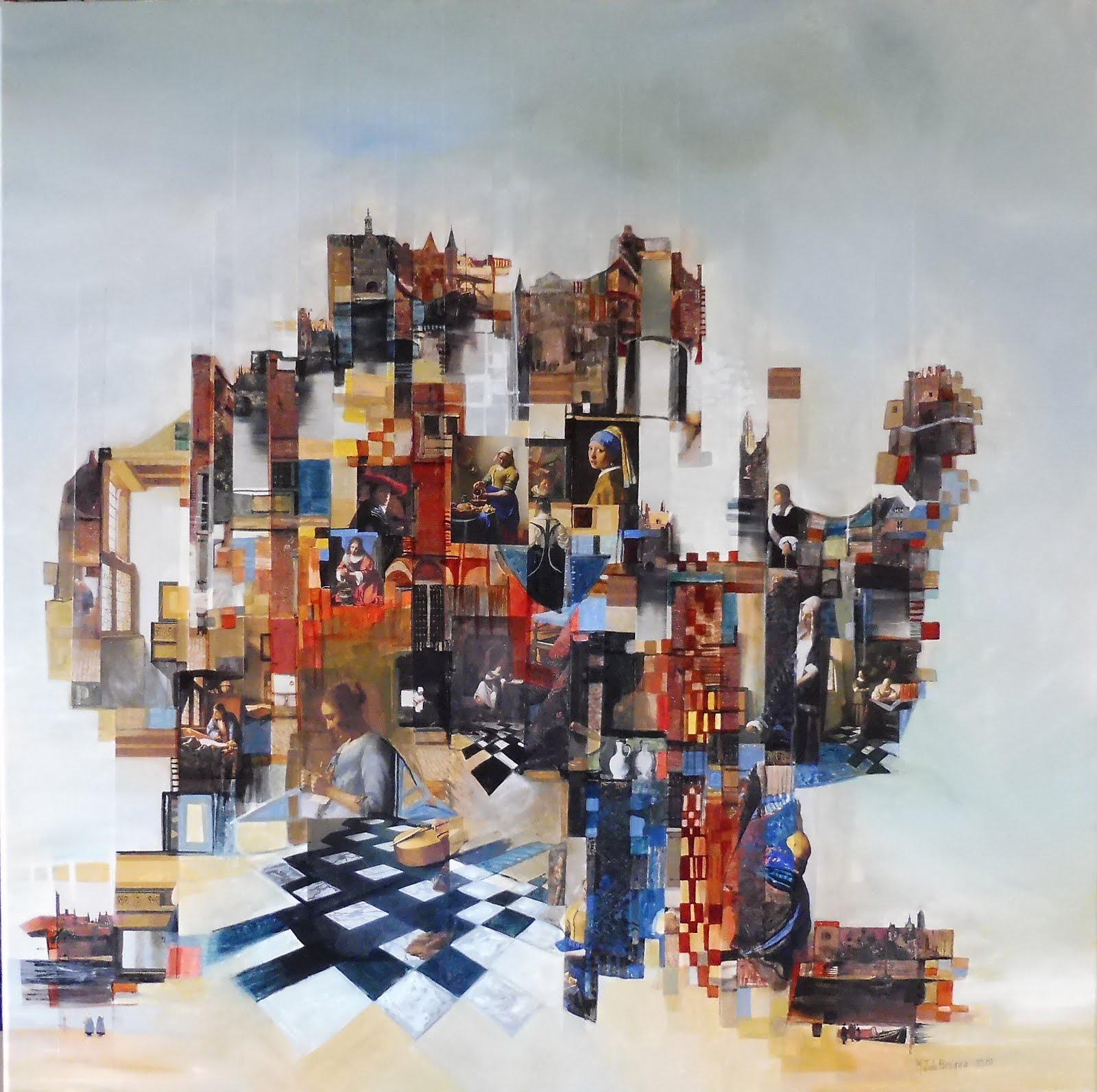 Hommage à Vermeer - 80 x 80 cm - 2020