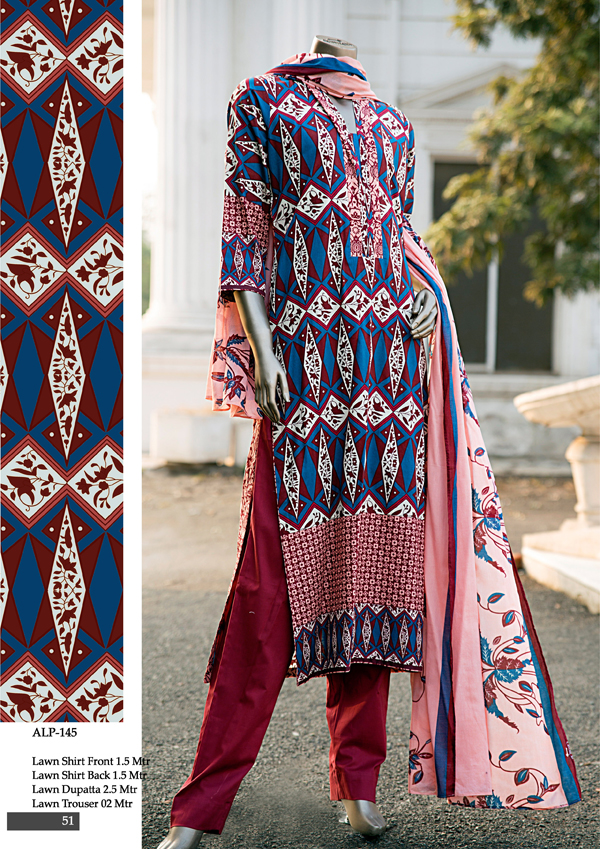 Almirah new pakistani lawn collection 2015