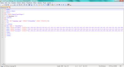 Tampilan Script HTML