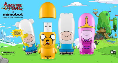 Adventure Time x Mimobot USB Flashdrive Collection - San Diego Comic-Con 2012 Exclusive Fionna, Jake, Finn & Princess Bubblegum