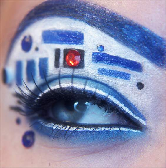 super designs tutorials haha gonna fun cool wear r2-d2 make-up