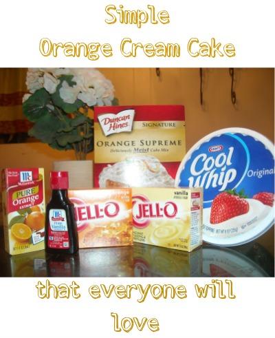 Simple Orange Cream Cake that Everyone will love