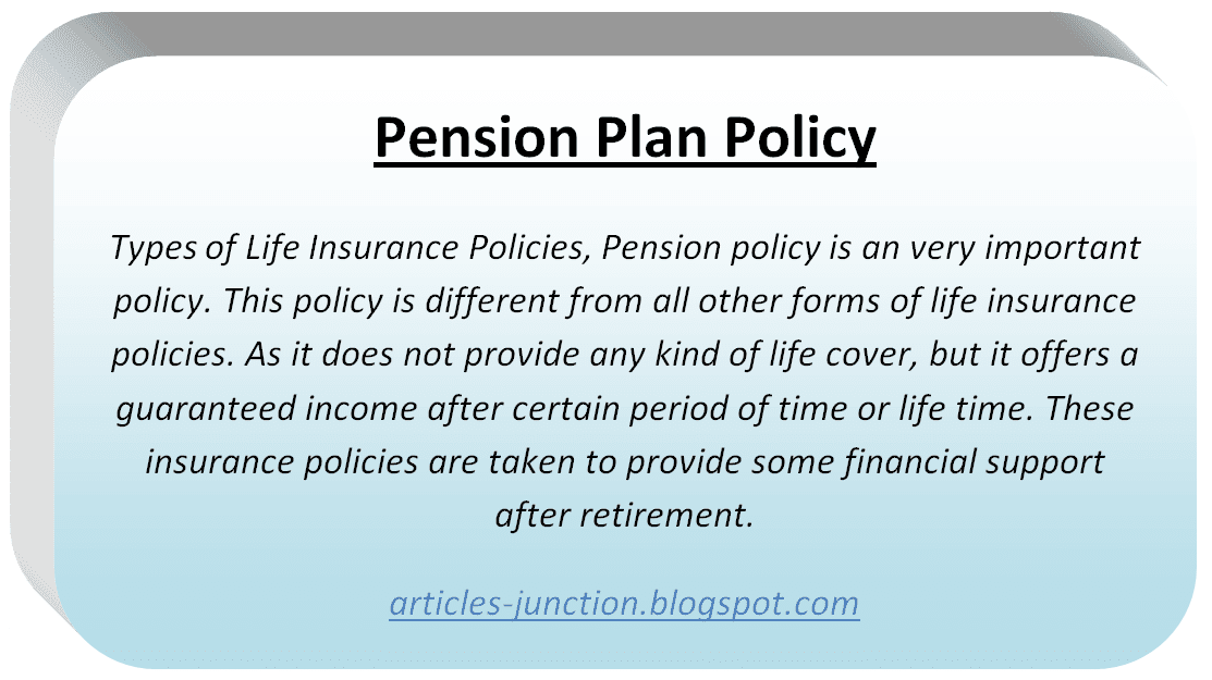 Pension Plan Policy