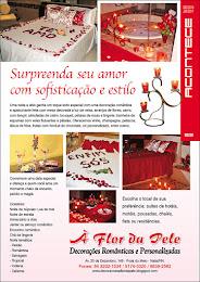 Matéria da Revista Acontece sobre as DECORAÇÕES ROMÂNTICAS.