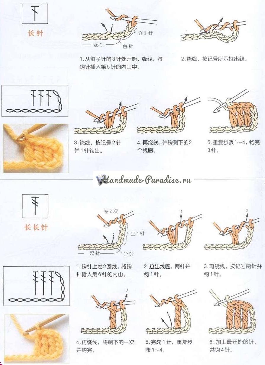 Начальное обучение вязания крючком