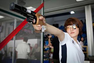 Kim Jangmi - medalha de ouro na Pistola 25m - Copa do Mundo ISSF de Carabina e Pistola - Tiro Esportivo