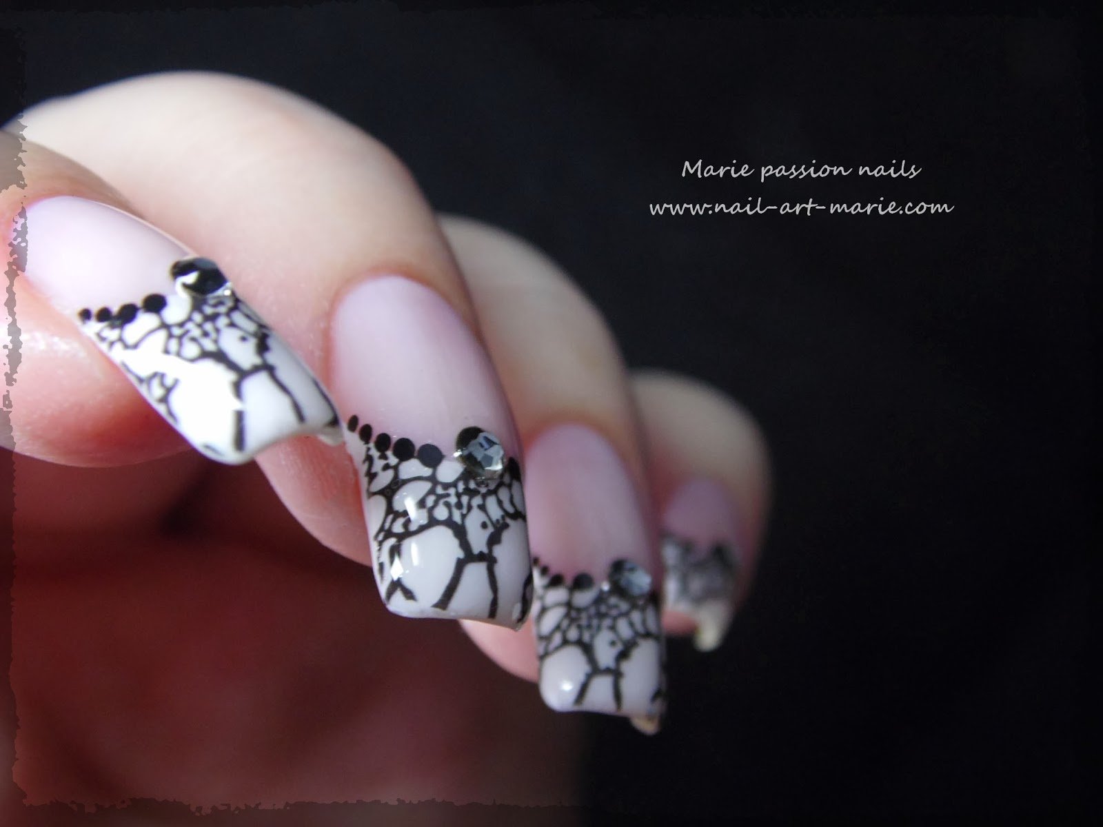 Nail art French effet faux ongles3
