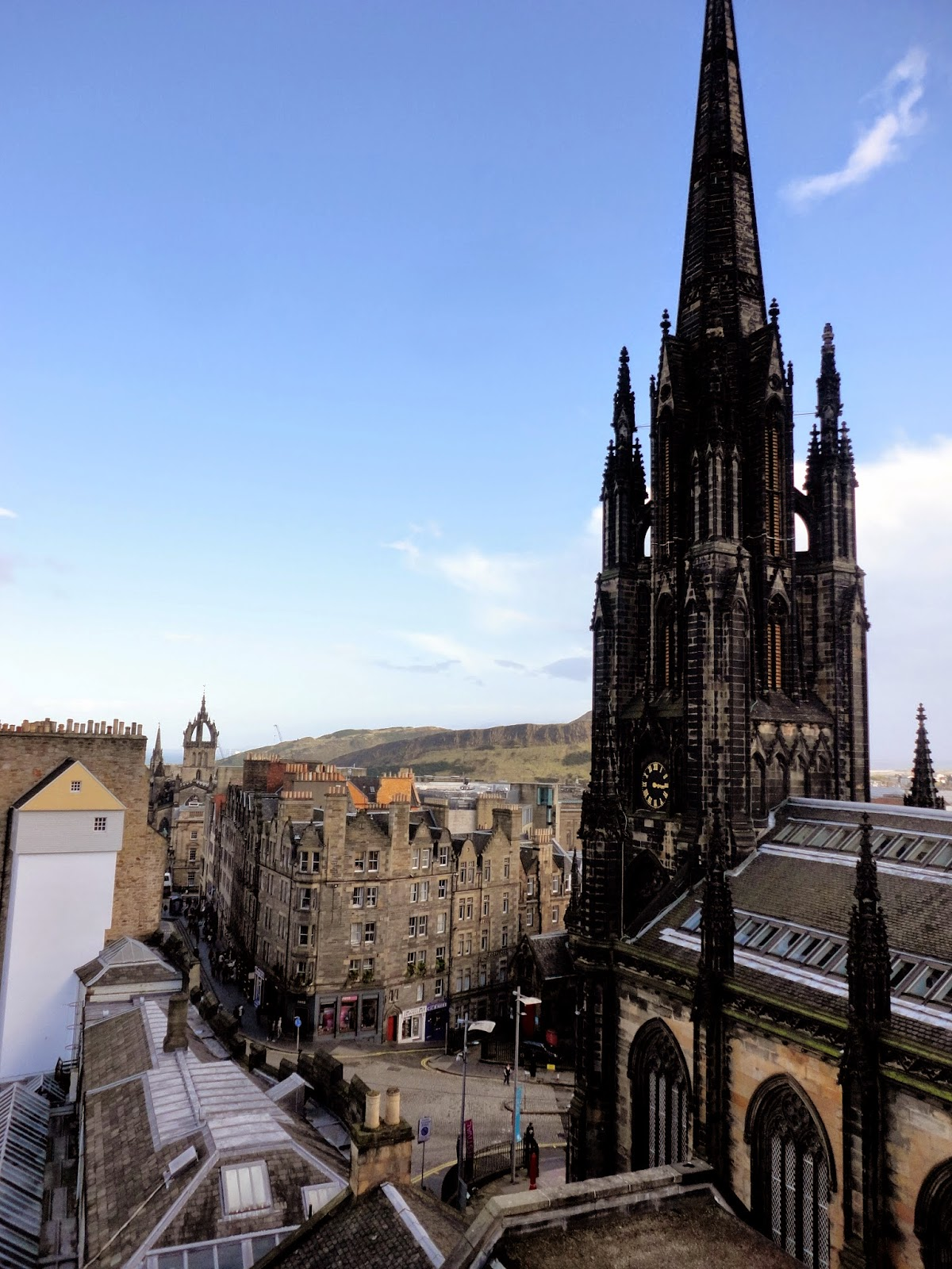 View of The Hub & Royal Mile from Camera Obscura, Edinburgh
