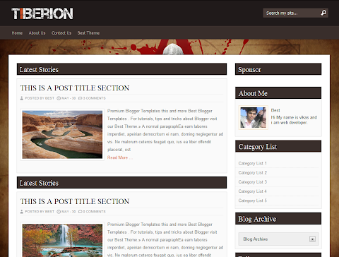 Tiberion Blogger Theme