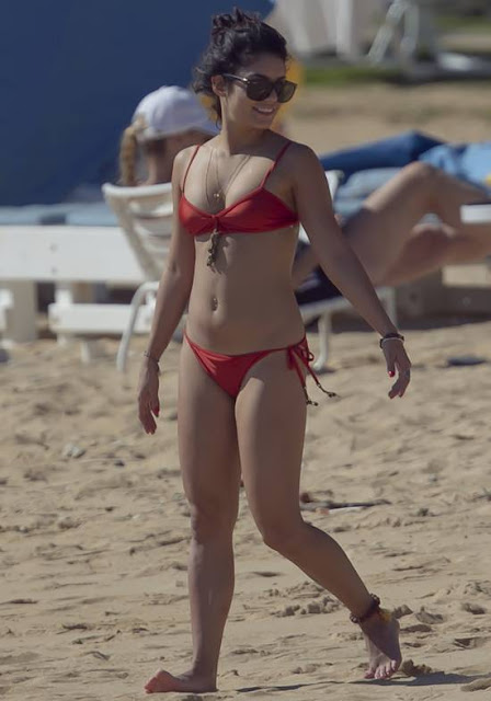 Vanessa Hudgens Bikini Candids in Hawaii Beach Pics