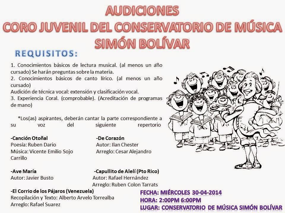 Conservatorio de m sica sim n bol var abril 2014 for Conservatorio simon bolivar blog