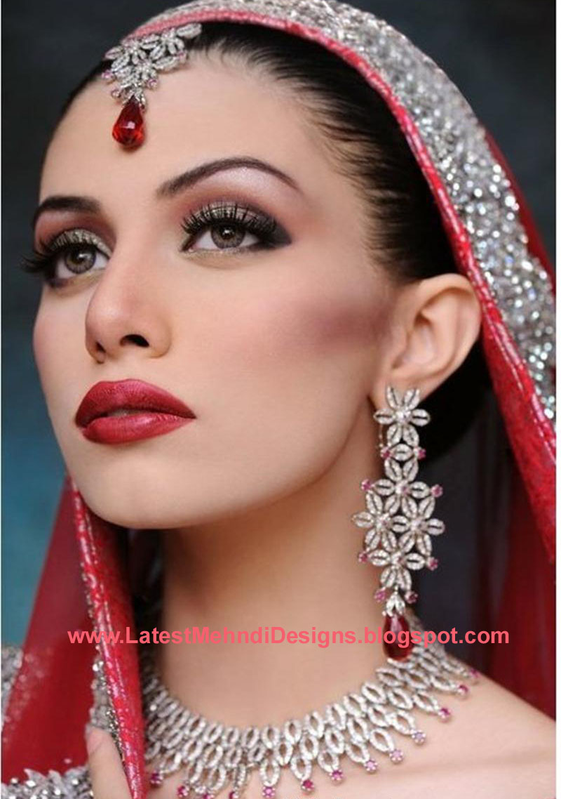 Latest bridal makeup trends and jewelry fashion wedding styles