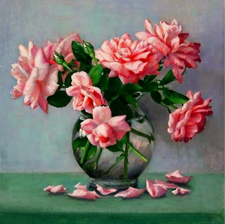 cuadros-de-flores-rojas-pintadas-al-oleo