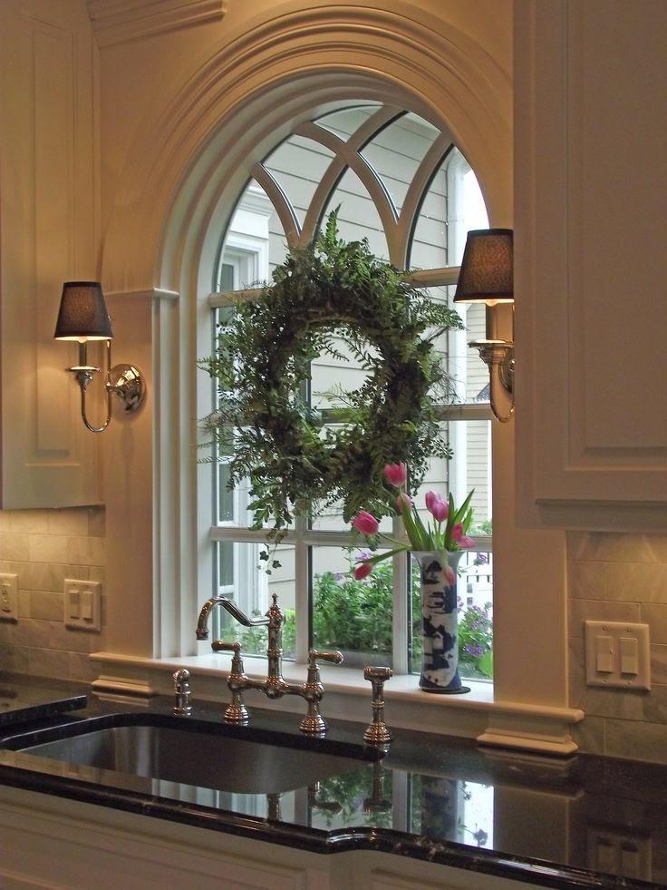 Beautiful Arched Kitchen Window