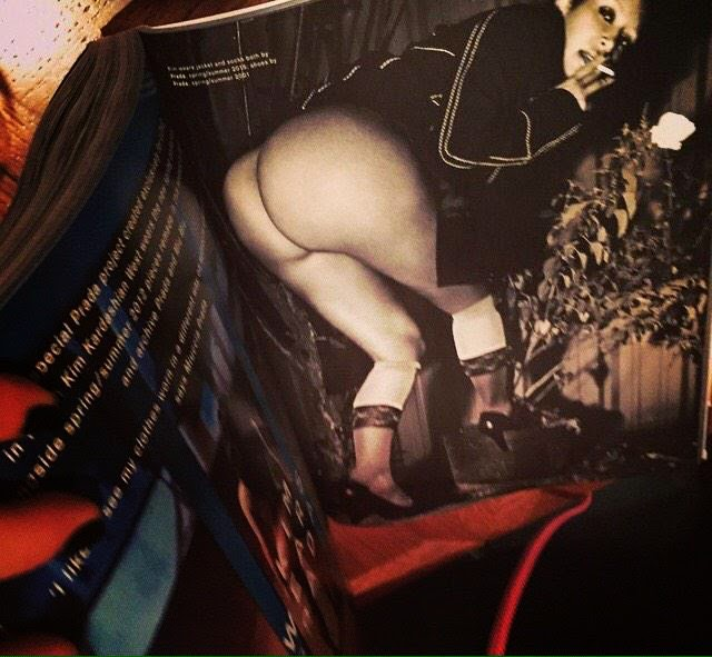 El culo desnudo de Kim Kardashian