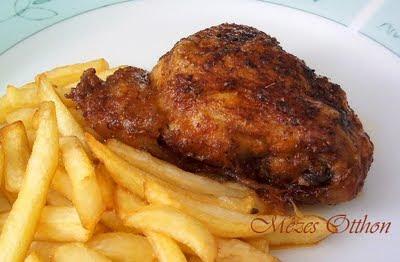 magyaros sült csirkecomb fotó
