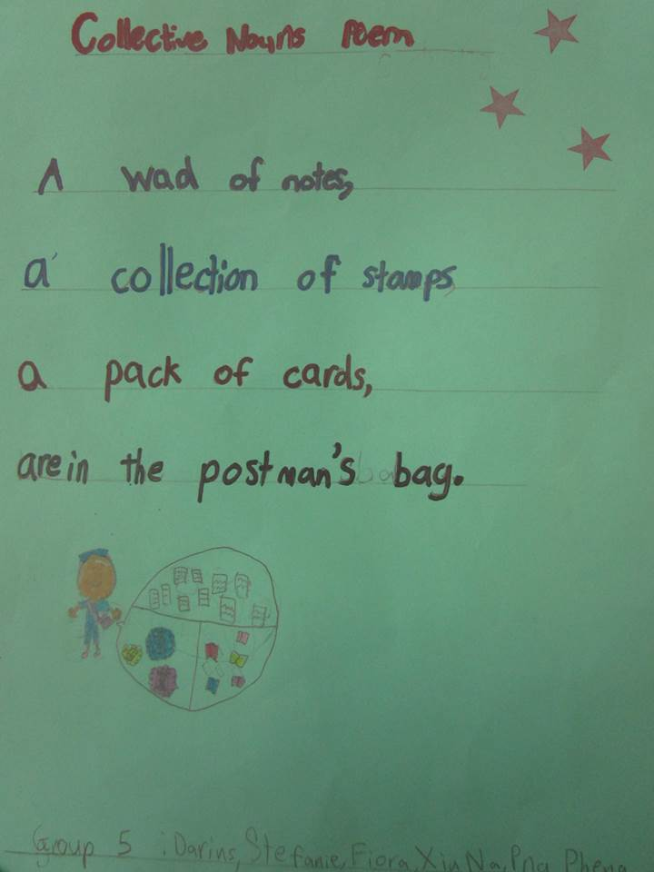 our collective noun poems