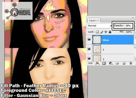 teknik tracing wajah vector menggunakan photoshop - tutorial membuat vector di photoshop - membuat foto menjadi kartun dengan photoshop