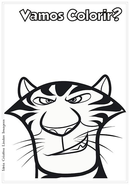 Desenho Vitaly Madagascar 3 para colorir