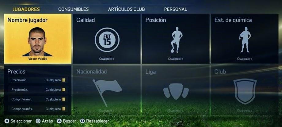 Víctor Valdés Lucas Silva FIFA 15 Ultimate Team