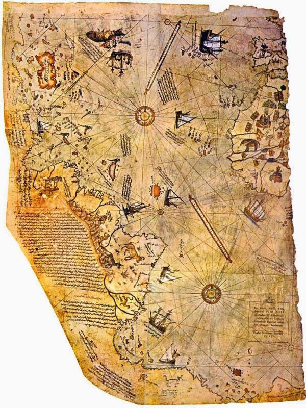 Peta Kuno Raja Laut, Piri Reis Map