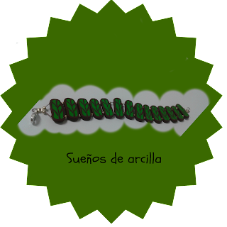 Pulsera hojas en arcilla polimerica