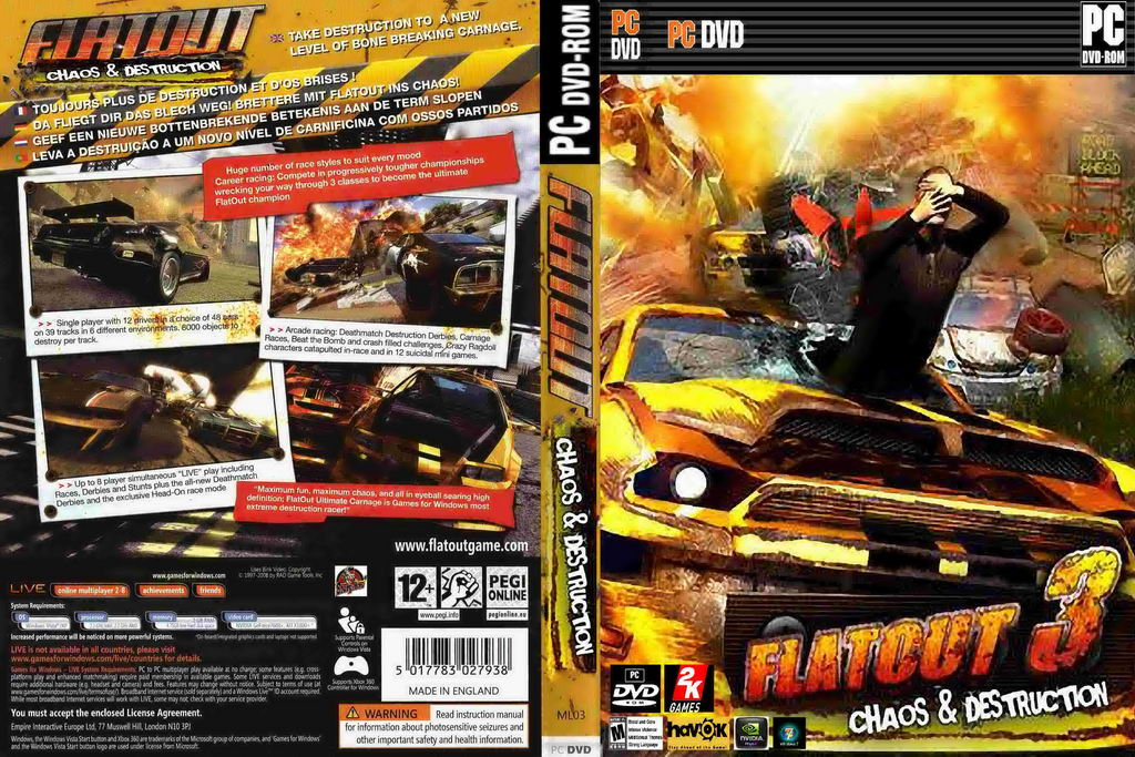 flatout 3 chaos (and,furthermore) destruction