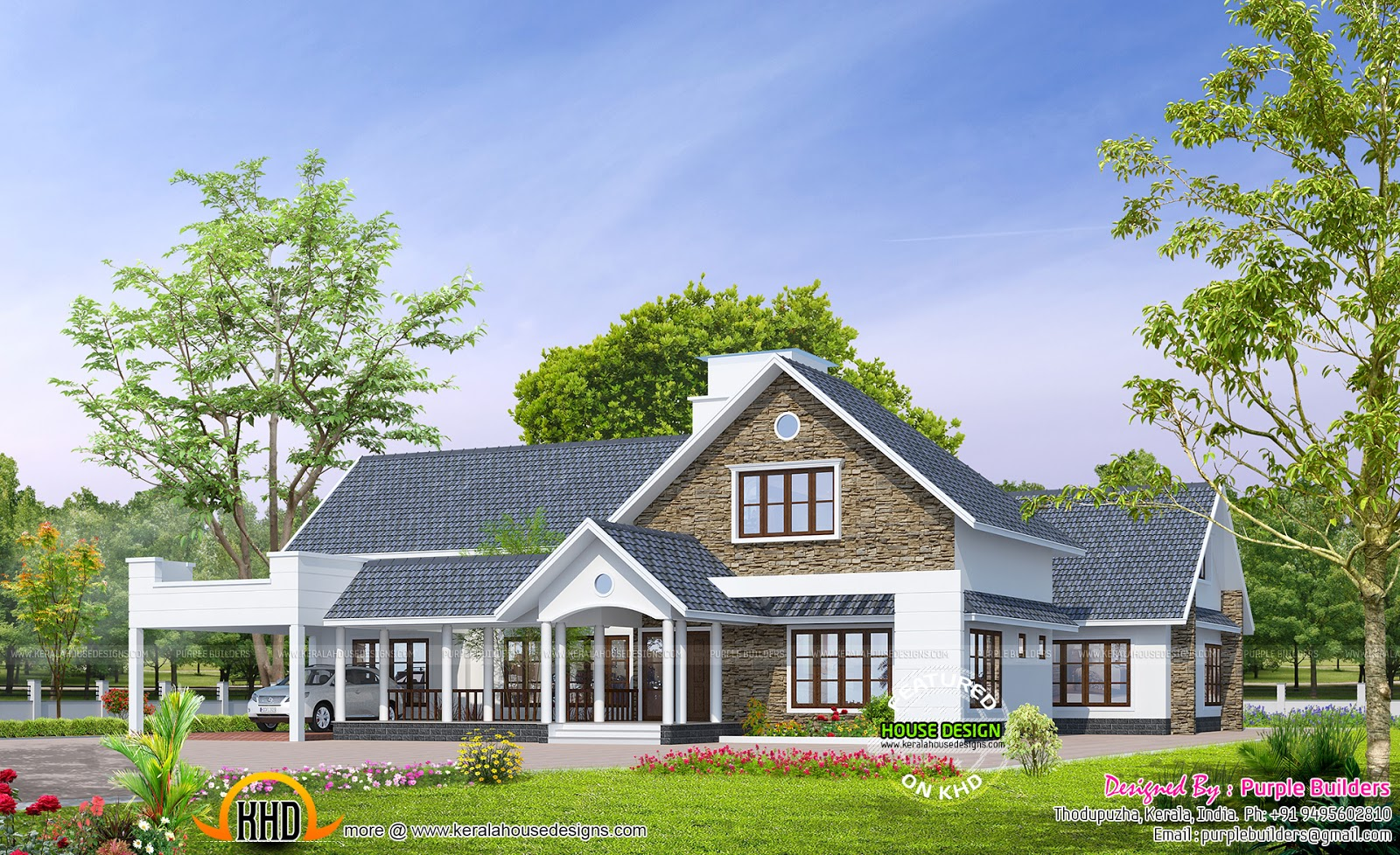 June 2015 kerala home design and floor plans for Bungalow style home plans