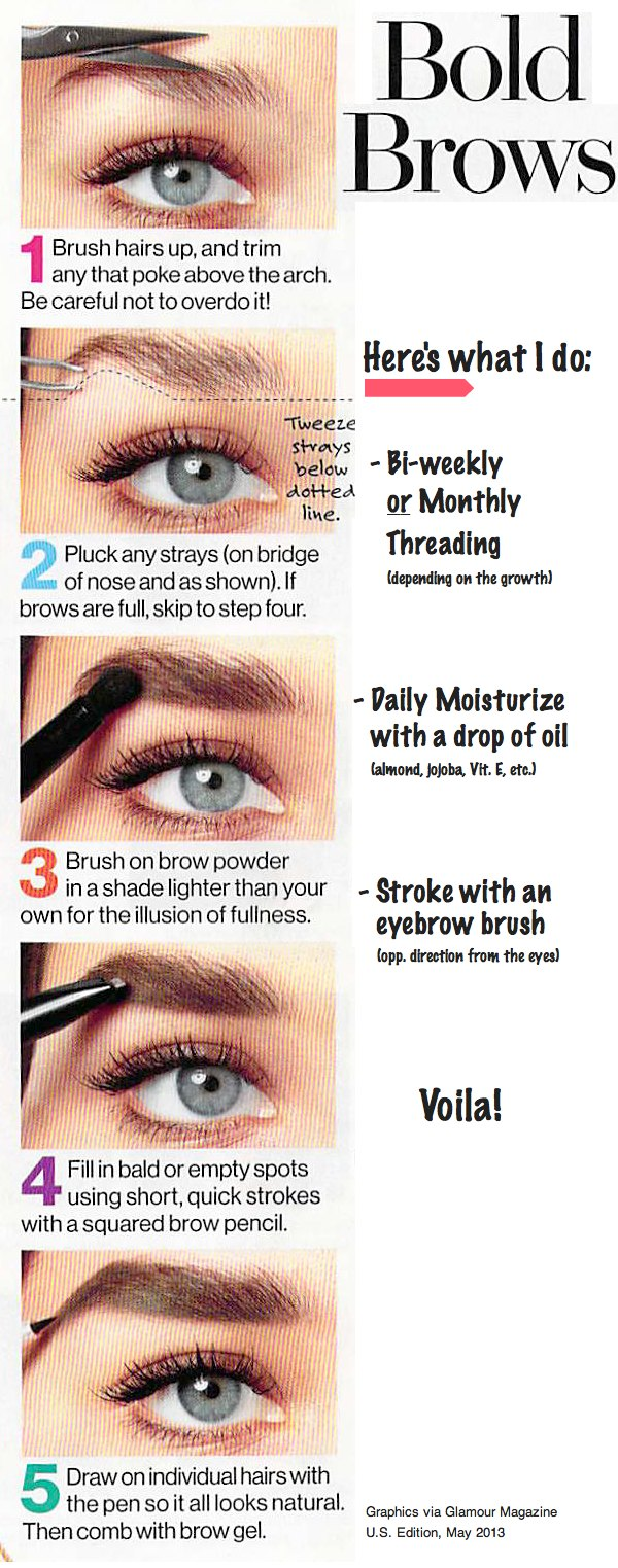 How To Get Bold Eyebrows Tanvii Indian Fashion Lifestyle